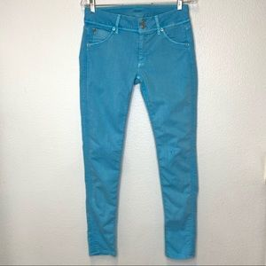 Hudson Turquoise Skinny Jeans Size 28